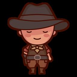 Lindo personaje de vaquero americano
