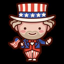Roupa de bandeira americana
