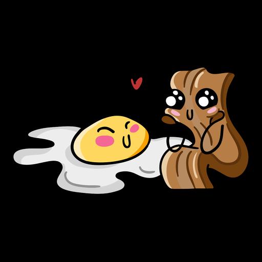 Bacon egg love Transparent PNG