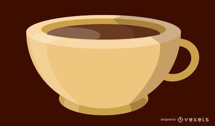 Imagen vectorial de la taza de café
