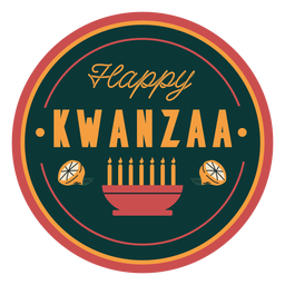 Badge happy kwanzaa
