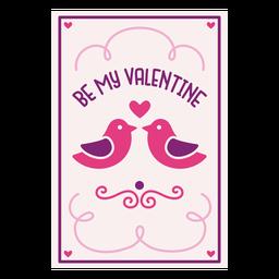 Se mi tarjeta de san valentin