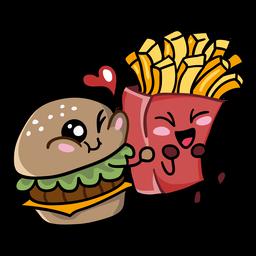 Burger fritas amor