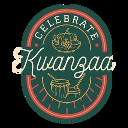 Celebra la insignia de kwanzaa