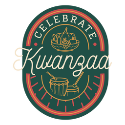 Celebrate kwanzaa badge
