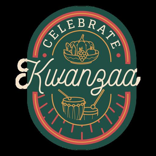 Celebra la insignia de kwanzaa Transparent PNG