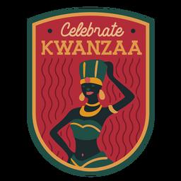 Celebra la insignia de mujer kwanzaa