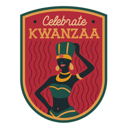 Celebrate kwanzaa woman badge