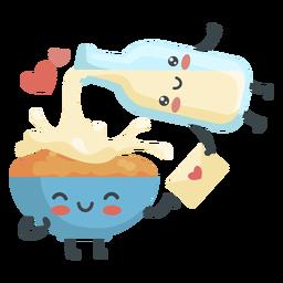 Casal leite de cereais