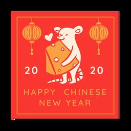 Chinesisches Neujahr der Käseratte