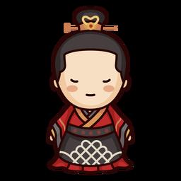 Mujer china antigua dinastía lindo