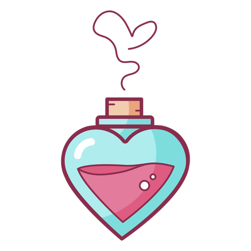 Colored valentine perfume love Transparent PNG