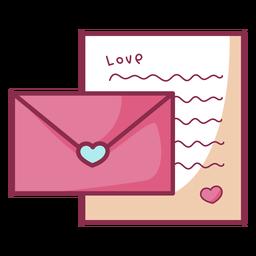 Carta simples de dia dos namorados colorido