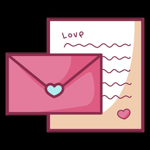 Carta simple color valentine
