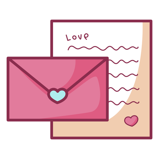 Colored valentine simple letter