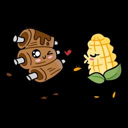 Amor de las costillas de maíz