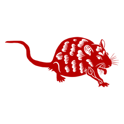 Rato agachado ano novo chinês