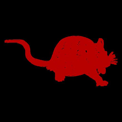 Rato agachado ano novo chinês Transparent PNG