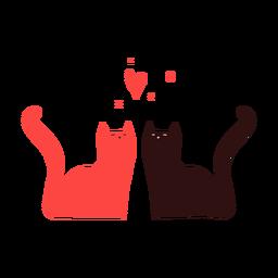Pareja de gatos lindos
