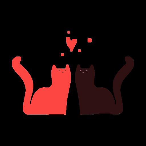 Cute Cats Couple Transparent Png Svg Vector File