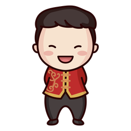 Niedliche chinesische traditionelle Kleidung