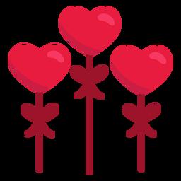 Cute hearts flat