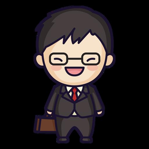 Cute japanese man suit Transparent PNG