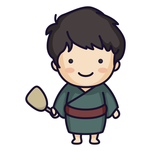 Cute japanese man traditional Transparent PNG