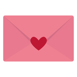Linda carta de san valentin plana