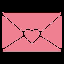 Linda carta de san valentin rosa