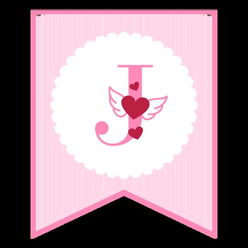 Cute love banner j Transparent PNG