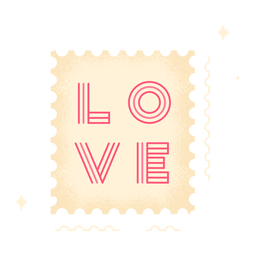 Cute love stamp
