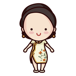 Cute modern chinese woman