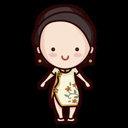 Linda mujer china moderna