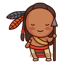 Cute native american