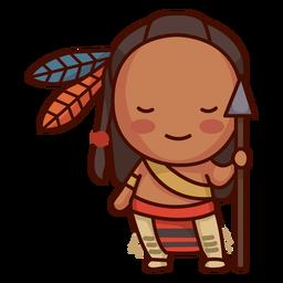 Lindo nativo americano