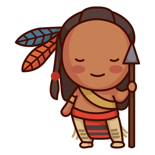 Cute native american Transparent PNG