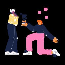 Casal bonito proposta