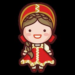 Lindo traje tradicional ruso