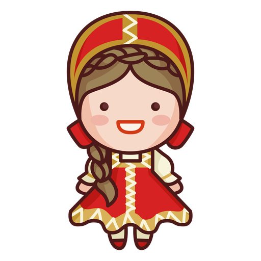 Cute russian traditional costume