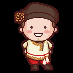Hombre tradicional ruso lindo