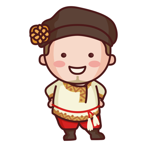 Cute russian traditional man