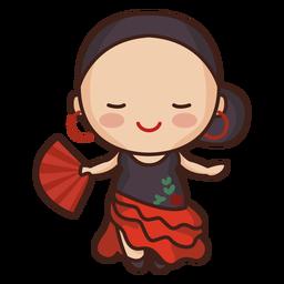 Mulher espanhola fofa de flamenco