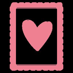 Coração dos namorados fofo rosa