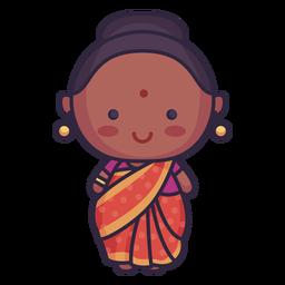 Nette indische Kleidung der Frau