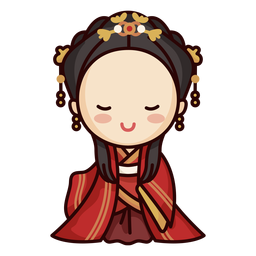 Linda mujer chino tradicional