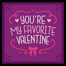 Favorite valentine card