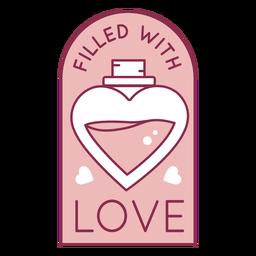 Lleno de insignia de amor