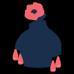 Cabeça de flor romântico triste