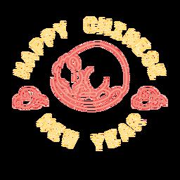 Feliz ano novo chinês rato dormindo